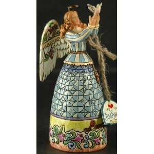 Enesco Jim Shore Mini Angel with Dove Peace Everything