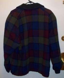 Pendleton 100% Virgin Wool Womens Plaid Jacket Coat With Elastic Waist