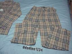 Burberry London Nova Check Mens Pajama Set Size Sz XL