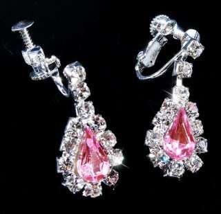 Necklace Earrings 1Set Czech Rhinestone Crystal Clear Wedding Prom