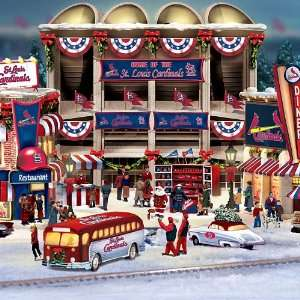 com St. Louis Cardinals Christmas Village Collection Home & Kitchen