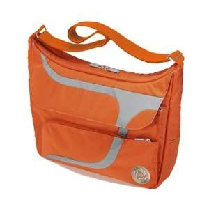Puku Laptop Messenger Bag   Burnt Orange & Gray