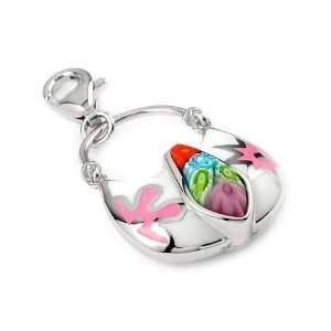 Color Millacreli Faceted Purse Pendant With Clasp Alan K. Jewelry