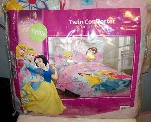 DISNEY PRINCESS TWIN BED COMFORTER COLORFUL CINDERELLA