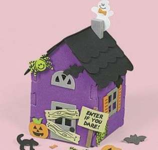 Halloween House Foam Haunted Craft Kit Kids Gift Purple
