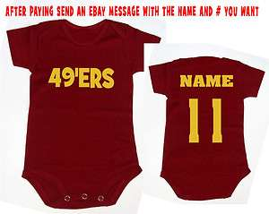 onsie jersey shirt kids san francisco niners romper clothes new top