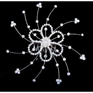 Bridal Wedding Prom Crystal Rhinestone Hair Comb 03