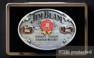 JIM BEAM WHISKEY Metal Business Card Case Holder