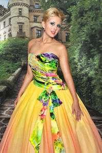 Posh Precious o52004 Yellow Multi Pageant Prom Gown 4