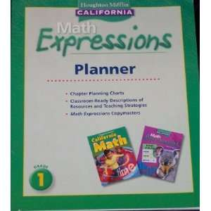 California Math Expressions Planner Grade 1 (9780618960354