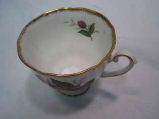 VINTAGE NUMBERED ROYAL WINDSOR FLORAL FINE BONE CHINA TEA CUP & SAUCER