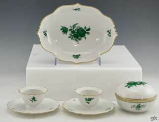 pc. Vintage Porcelain Trinket Box/Dishes/Egg Cups Augarten Wien