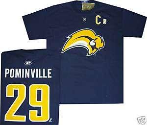 JASON POMINVILLE BUFFALO SABRES T Shirt jersey XXL C