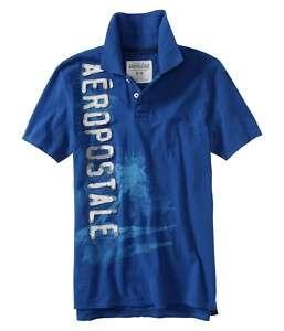 Aeropostale mens AERO SURF POLO T shirt S,M,L,XL,XXL