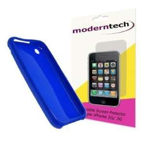 Modern Tech Blue Gel Skin/ Case & Screen Protector for Apple