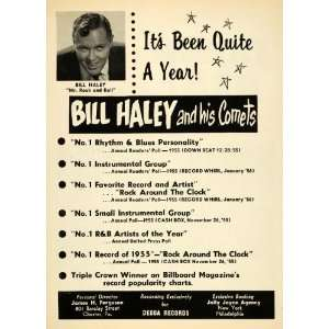1956 Ad Decca Bill Haley Comets Album Rock Around Clock