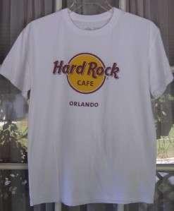 Hard Rock Cafe Orlando Logo M White Cotton Tee Shirt