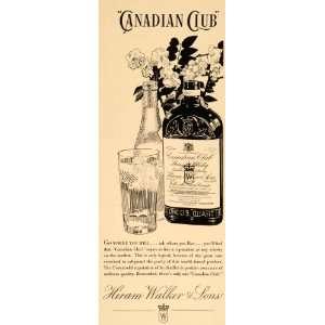 1934 Ad Canadian Club Hiram Walker Whiskey Liquor Drink