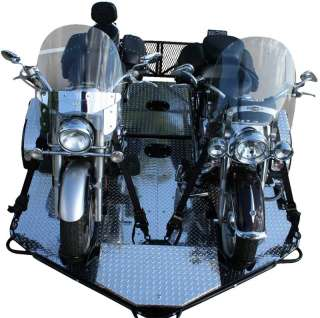 New Drop Tail Folding Dual Twin 2 Up Motorcycle Trailer