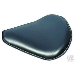 BLACK LEATHER SOLO MOTORCYCLE SEAT Frontiercycle