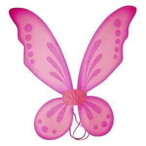 Fuchsia Fairy Pixie Costume Wings: Toys & Games