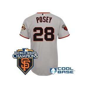 San Francisco Giants Authentic Buster Posey Road Jersey w
