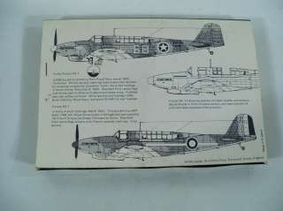 Rare Plane Vacforms Fairey Fulmar MksI II 1/72 Scale Model Airplane
