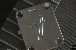 Fender F Neck Plate neckplate with custom Serial Number