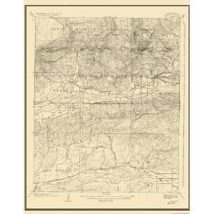 USGS TOPO MAP PIRU QUAD CALIFORNIA (CA) 1921 Home
