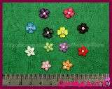 12 Pcs Nail Art Flowers 12 Pcs Bow Ties with Rhinestones 12 Colours
