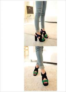 2012 New Fashion Women Colors Cross strap Platform Pumps High Heels