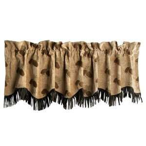 Pine Cone Chenille Suede Valance