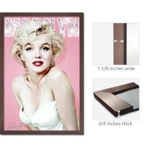 Slate Framed Marilyn Monroe Diamond Poster 33605