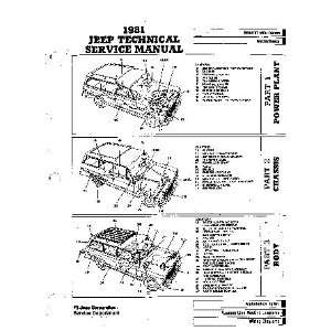 Technical Service Manual Jeep Corporation Service Department Books