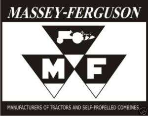 Vintage Massey Ferguson 1 sticker decal sign 4x3.1