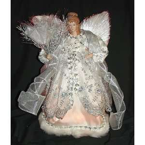 12 Animated Fiber Optic Silver Angel Christmas Tree