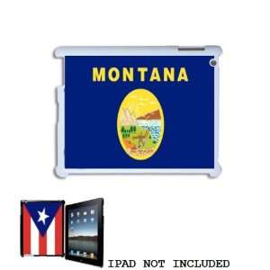 Montana State Flag Emblem Snap On Shell Case Cover for Apple iPad 2