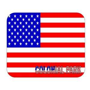 US Flag   Colonial Park, Pennsylvania (PA) Mouse Pad