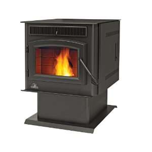 TPS35 Pellet Stove With Pedestal Base Black Door Digital Control Panel