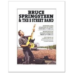 SPRINGSTEEN UK Tour 2012 16x12in Matted Music Print