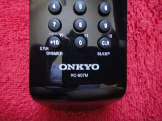 NEW ORIGINAL ONKYO RC 807M RECEIVER REMOTE CONTROL |