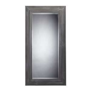 Large Wall Mirror In Distressed Grey 116 003