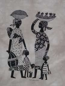 Jambo Heidi Lange Screen Print   Kenya: Other Art: WorldofGood