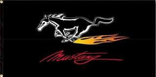 FORD MUSTANG FLAME LOGO FLAG 3X5 BANNER