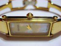 Working Gucci Ladies Gold 1500L Watch Bangle Bracelet and Mother of