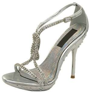 WOMENS SHOES SILVER HIGH HEELS WEDDING/BRIDAL/EVENING