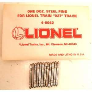 Lionel 6 65042 One Dozen O27 Steel Track Pins (144) Toys