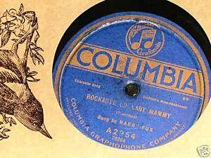 COLUMBIA GRAPHOPHONE HARRY FOX 78 RPM