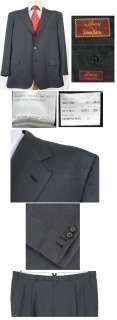 Button Brioni Nomentano Super 150s Suit 50R 50 R Dark Blue