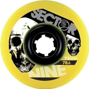 Sector 9 Race Formula 73mm 78a Skateboard Wheels w/ Free B